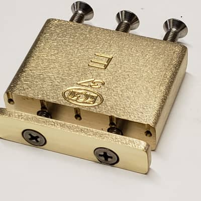 KGC Brass Tremolo Block for Ibanez Edge and Lo-Pro 37mm -Best Design, most Mass Direct Fit  USA Made
