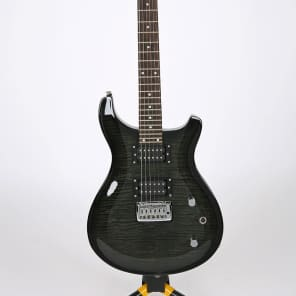 Venson Flame Top Double Cutaway Electric Guitar Black Made in Korea for sale