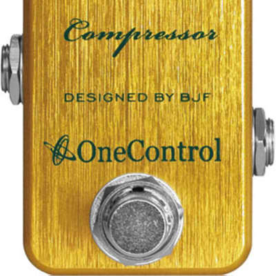 One-Control Lemon Yellow Compressor Effect Pedal for sale