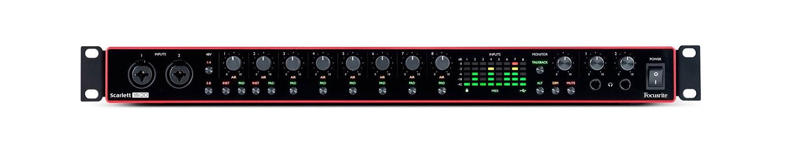 Focusrite Scarlett 18i20 USB Audio Recording Interface (3rd Gen)