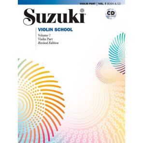 Alfred Music 00-43021 Suzuki Violin School - Violin Part Book and CD (Volume 7)