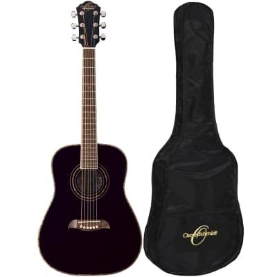 Oscar Schmidt OGHSB 1/2 Size Acoustic Guitar Kit with Gig Bag, Black for sale