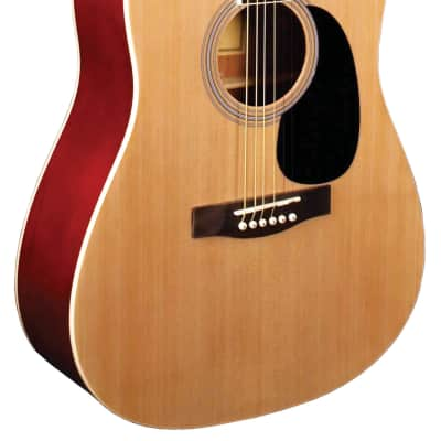 Indiana S-SCOUT-N Dreadnought Shape Spruce Top 6-String Acoustic Guitar - Natural