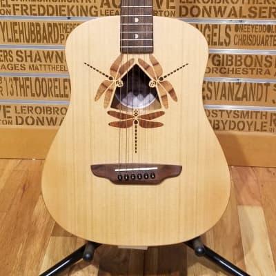Luna SAF DF NAT 3/4-Size Travel Guitar Natural for sale