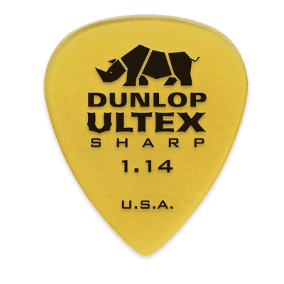 Dunlop 433P114 Ultex Sharp 1.14mm Guitar Picks (6-Pack)