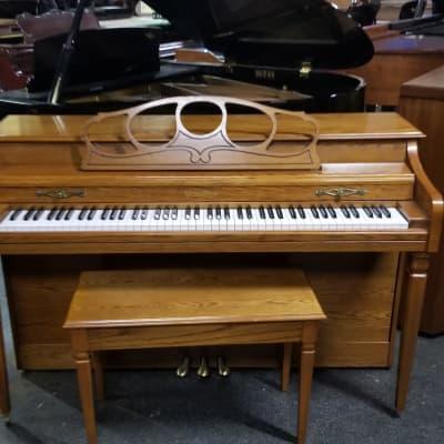 "Wurlitzer Oak 36"" Piano USA SN 2825092"