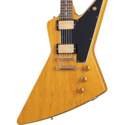 PreOrder Gibson Custom Shop 1958 Korina Explorer Reissue Black Pickguard for sale