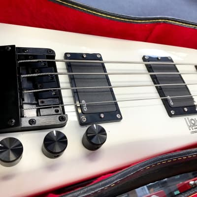 Hohner B2 Headless Bass 1985-1993 White w/ New Active EMG Pickups for sale