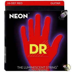 DR NRE-11 Hi-Def Coated Neon Guitar Strings - Medium (10-46)