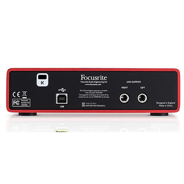 focusrite scarlett 2i2 mkii usb audio interface reverb. Black Bedroom Furniture Sets. Home Design Ideas