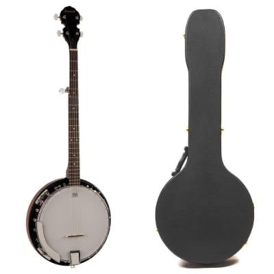 Savannah SB-100 Banjo 24 Bracket + Guardian Archtop  Hardshell Case for sale