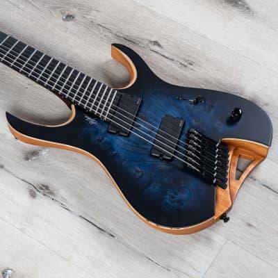 Mayones Hydra Elite 7 VF Multiscale 7-String Guitar Trans Dirty Blue Burst Satin