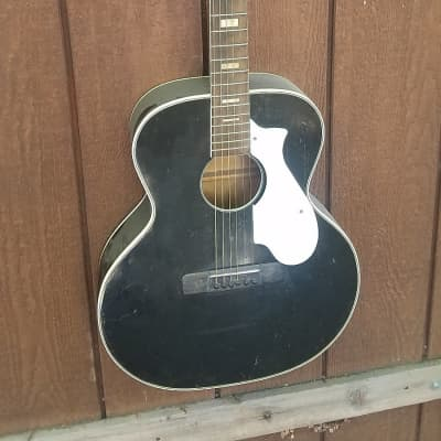 Harmony Jamboree Model H-1250 Acoustic Guitar 1960s Black for sale