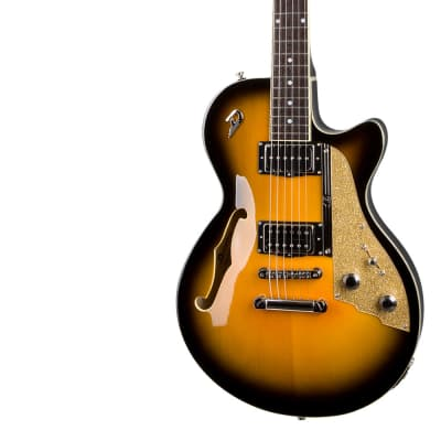 Electric Guitar DUESENBERG STARPLAYER TV -  Two Tone Sunburst - Stop Tailpiece + Custom Line Case for sale