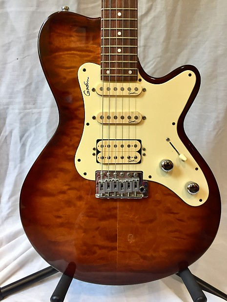 Godin Sd Amber Quilt With Ohsc Reverb