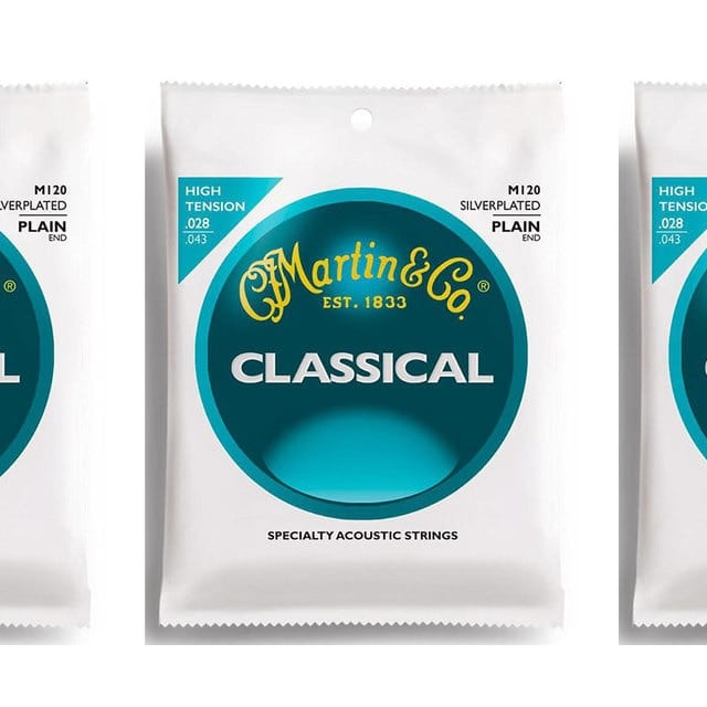 Martin M120 Silverplated Classical Guitar Strings, High Tension 3 Sets image