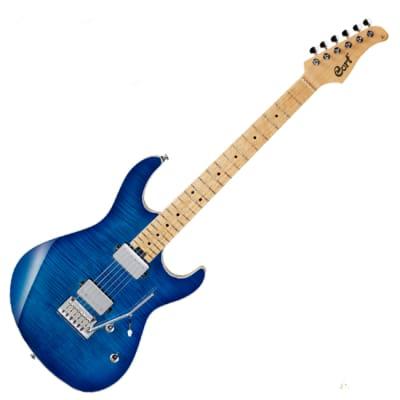 Cort G290 FAT Blue Flame Maple Birdseye Maple 22 Frets Electric Guitar