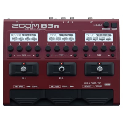 Zoom B3n Multi-Effects Bass Processor with Power Supply image