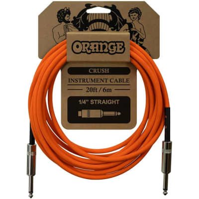 Orange Cables Crush 20ft Instrument Cable Straight to Straight