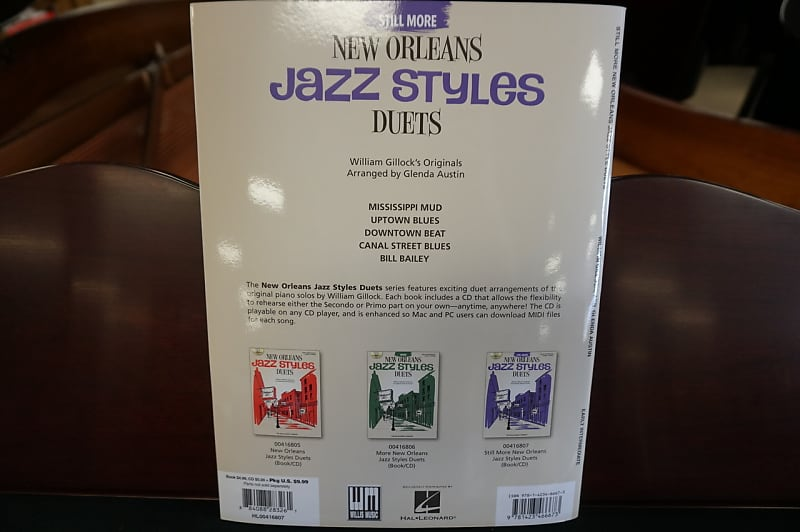 Still More New Orleans Jazz Styles Duets Early Intermediate With CD