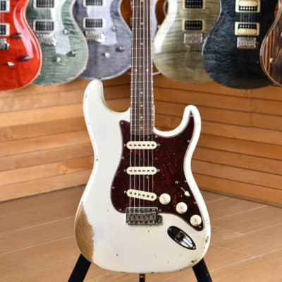 Fender Custom Shop Stratocaster '60 Heavy Relic Roasted Limited Edition Rosewood Fingerboard Aged Olympic White for sale