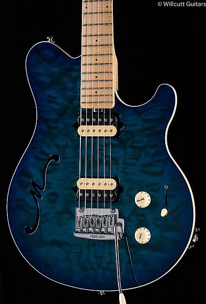 Ernie Ball Music Man Axis Super Sport Semi Hollow Balboa Blue Reverb