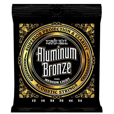 Ernie Ball 2566 Aluminum Bronze Acoustic Strings .012-.054