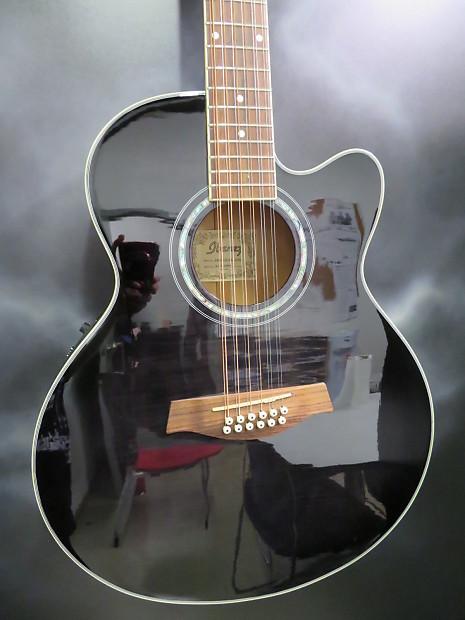 2011 ibanez ael2012e 12 string acoustic electric trans black reverb. Black Bedroom Furniture Sets. Home Design Ideas