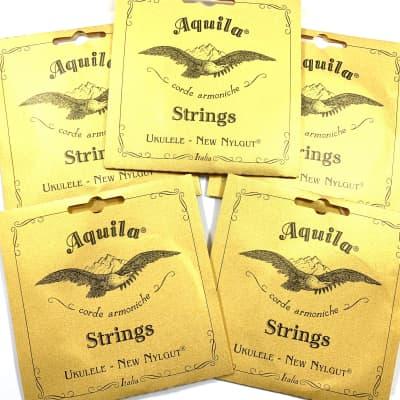 Aquila Ukulele Strings 3 Pack Soprano Regular Nylgut Made in Italy