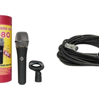 New TELEFUNKEN Elektroakustik M80 Dynamic Live Stage Vocal Microphone STANDARD + FREE XLR Mic Cable!