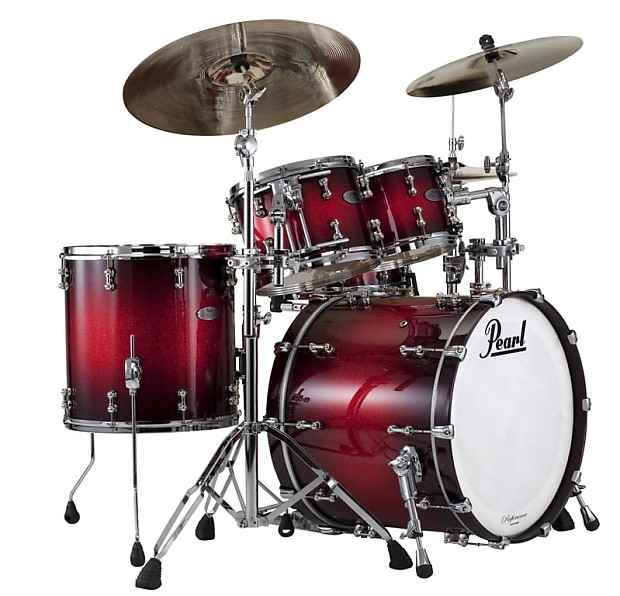 pearl reference pure 4pc shell pack rfp924xedp c377 scarlet reverb. Black Bedroom Furniture Sets. Home Design Ideas