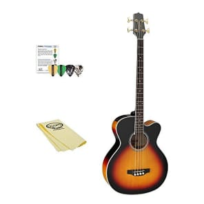 Takamine GB72CE BSB Jumbo Acoustic Electric Bass Guitar, Black Sunburst, with ChromaCast Pick Sampler, & Polish Cloth for sale