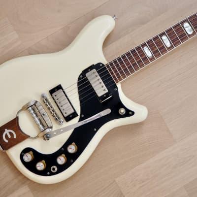 1965 Epiphone Crestwood Custom Polaris White w/ Nickel Hardware & Case, Gibson-Made for sale
