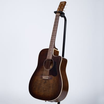 Art & Lutherie Americana Dreadnought Cutaway Acoustic Guitar with Godin Q1T - Bourbon Burst for sale