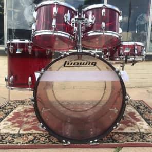 1970s Ludwig Vistalite Big Beat Drum Set with Single-Color Finish