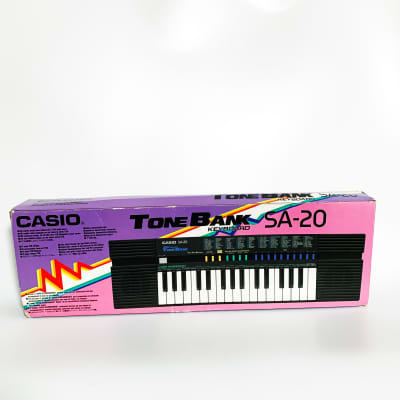 Casio SA-20 Tone Bank Mini Keyboard SA 20 Synth Drum Machine Synthesizer Audio Line Out Wham Bend
