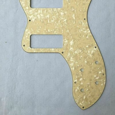 Cream Pearl Guitar Pickguard Scratch Plate For Fender 72 Tele Thinline With P-90 Humbucker Pickups