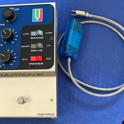 1974 Musitronics Mutron III Envelope Filter, Excellent with Box and Custom Adapter for sale