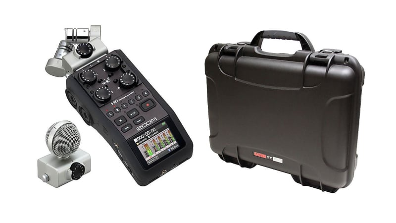 Zoom H6 Handy Recorder W Gator Cases Gu Zoomh6 Wp Black Reverb