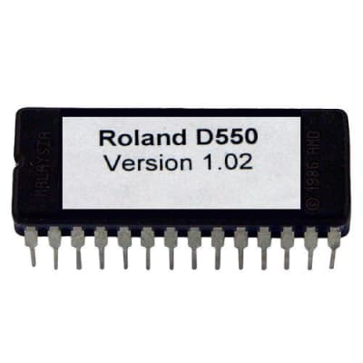 Roland D550 Version 1.02 firmware OS update EPROM Vintage Synth D-550