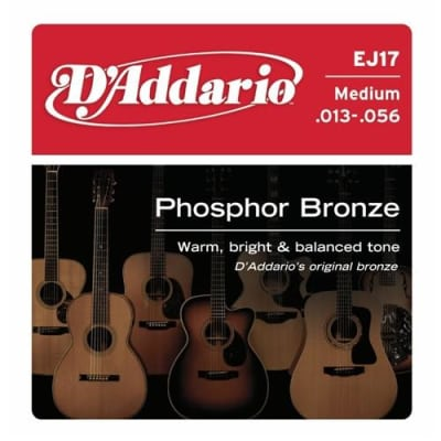 D'Addario EJ17 Phosphor Bronze Acoustic Guitar Strings - Medium 13-56