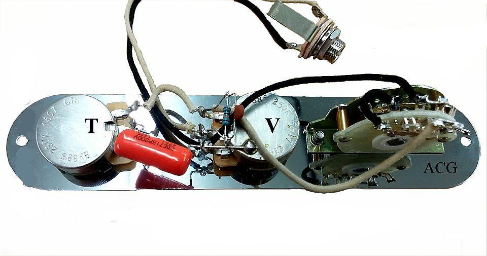 Atlantic Custom Guitars - New Upgraded Telecaster 4 way Wiring Harness on
