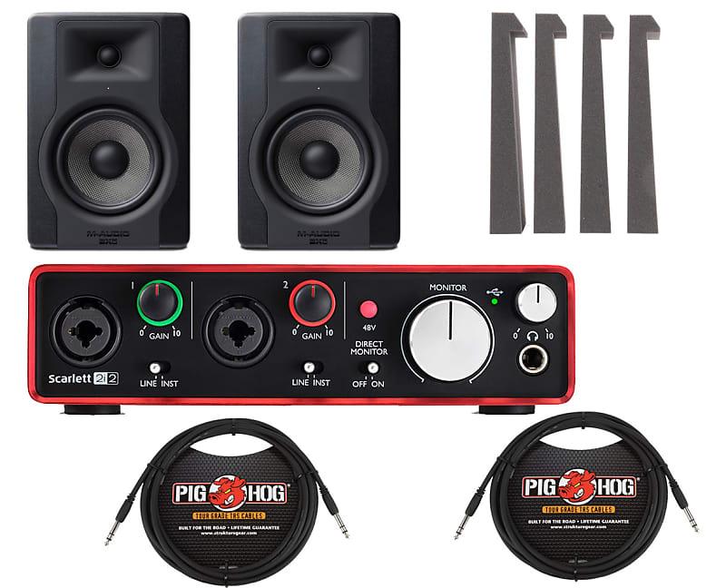 m audio bx5 d3 5 studio monitor pair focusrite reverb. Black Bedroom Furniture Sets. Home Design Ideas