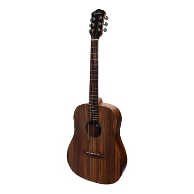 Martinez Acoustic-Electric Middy Traveller Guitar with Built-In Tuner (Rosewood) for sale