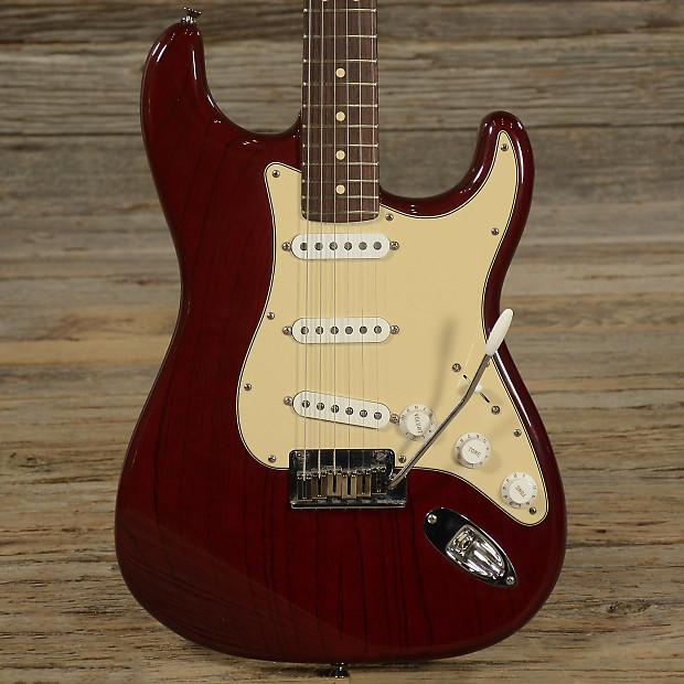 Fender Custom Shop Stratocaster Transparent Bing Cherry 2005 Reverb