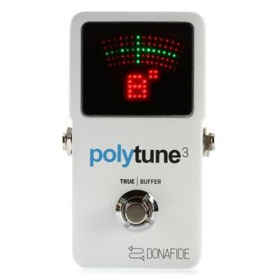 TC Electronic PolyTune 3 Ultra-Compact Polyphonic Tuner w/ Buffer