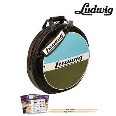 """Ludwig Atlas Classic 22"""" Cymbal Bag Kit (LXC1BO) Includes: ChromaCast 5A Drumsticks"""