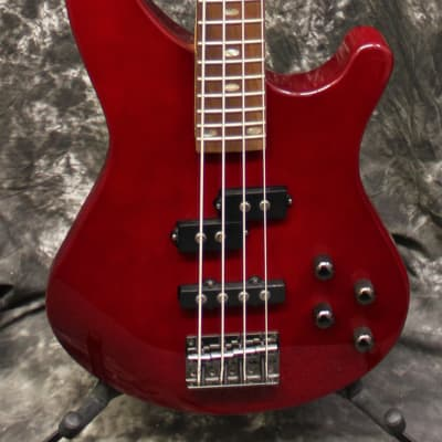 Mitchell MB200 Modern Rock Bass with Active EQ Blood Red for sale