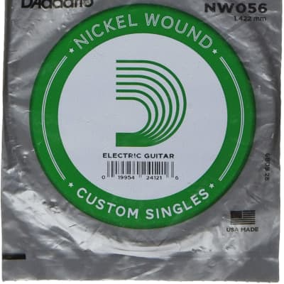 D'Addario NW056 Nickel Wound Single String Electric Guitar