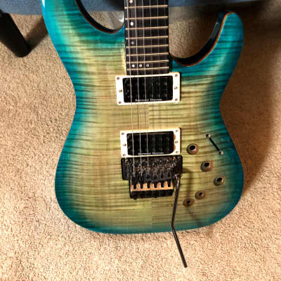 Schecter  BlackJack SLS C-1 FR-S 2017 Aquaburst for sale